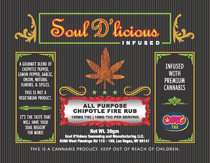 Soul D'licious Infused Spices - Chipotle Fire Rub